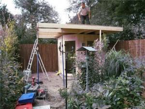 Opbouw buitensauna in 1 dag 2