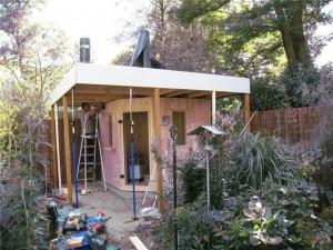 Opbouw buitensauna in 1 dag 4