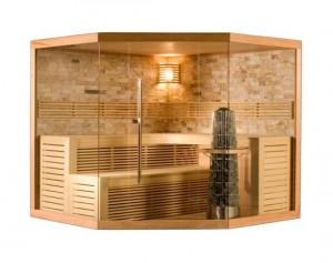 Sauna met glazen voorzijde 2